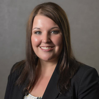 photo of a bank employee named courtney hornback